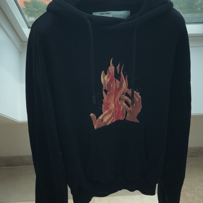Off-White C/O Virgil Abloh Fire Hands Hoodie