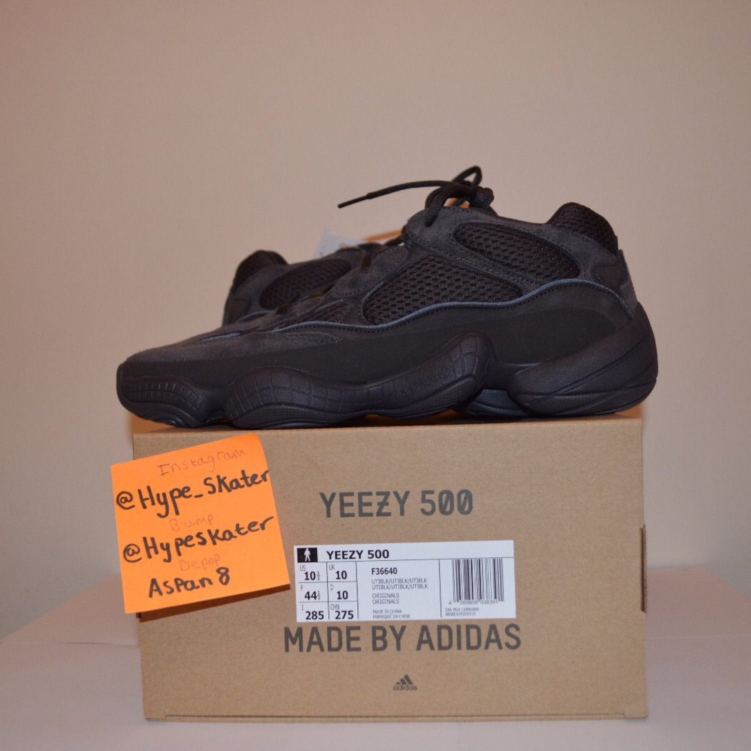 7610139a2d3 Adidas Yeezy 500 Utility (Black Uk 10   Us 10.5)