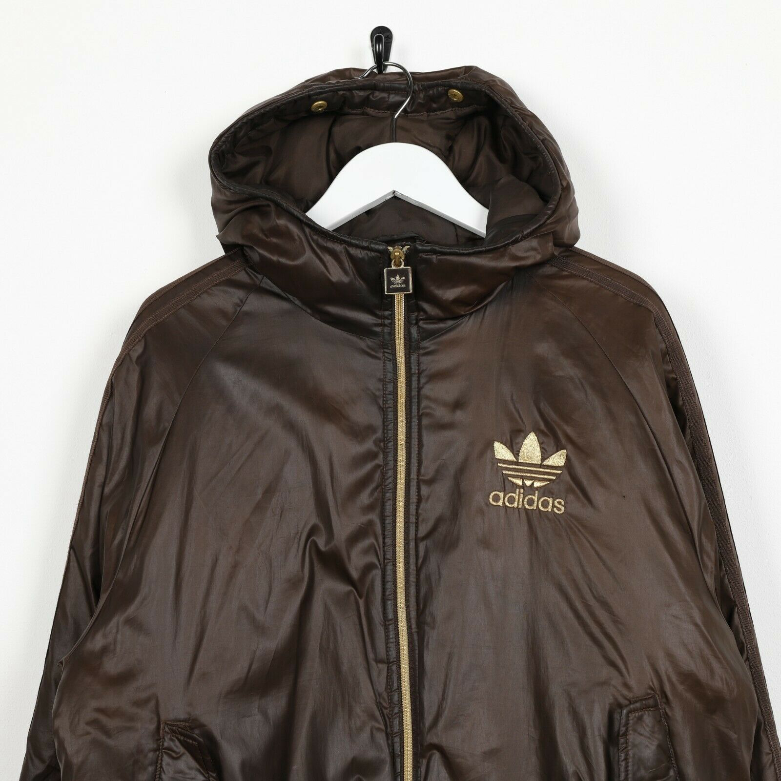 Vintage ADIDAS ORIGINALS CHILE 62 Padded Coat Jacket Brown Small S