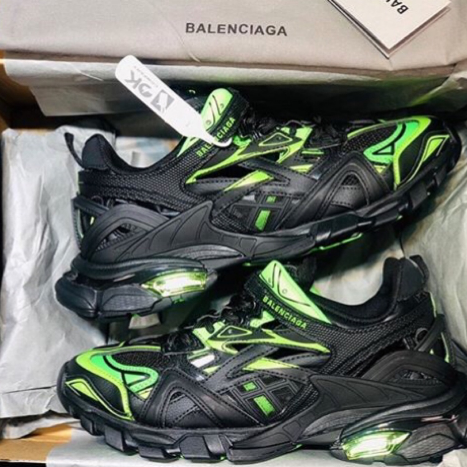 Balenciaga Black Track 2 Open Sneakers for Men Lyst