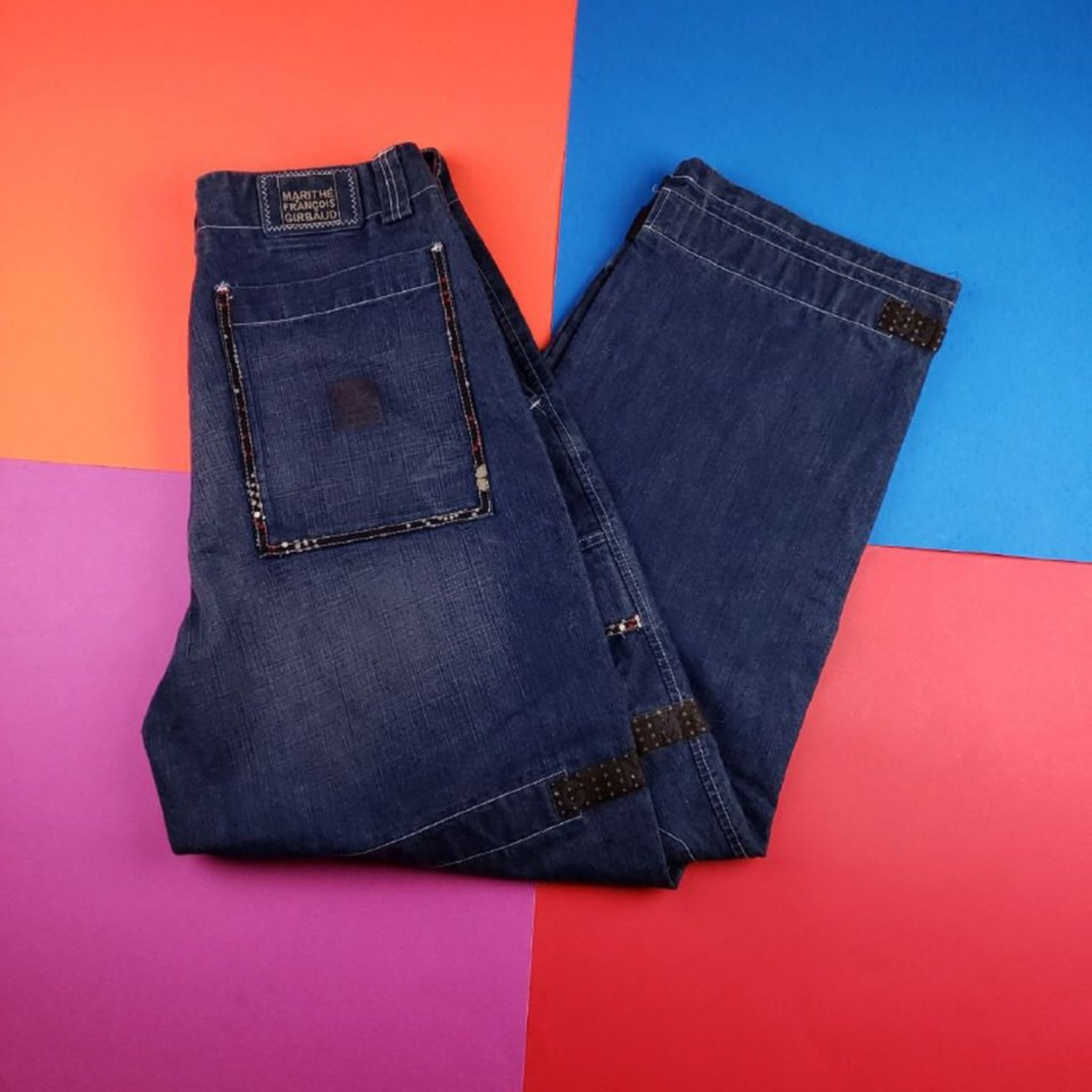 Vintage 90'S Marithe Francis Girbaud Strap Jeans