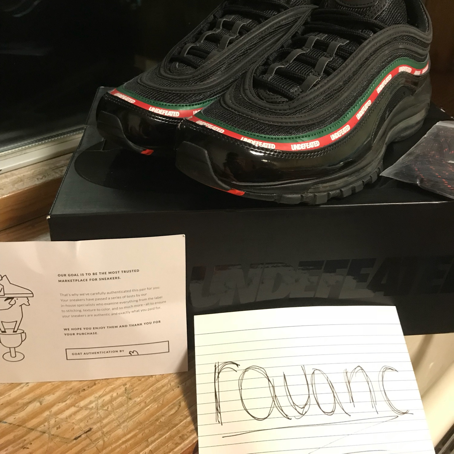 save off 16596 d6909 Nike Air Max 97 Undefeated Gucci Colourway