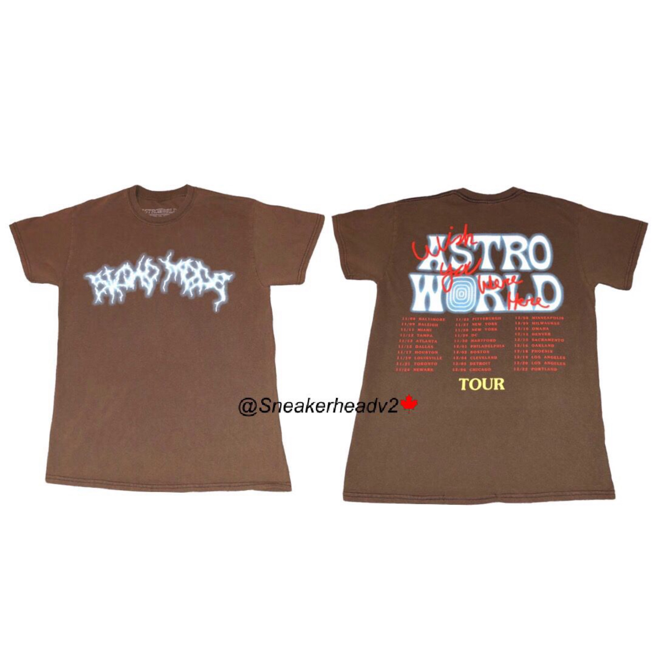"""Astroworld """"Sicko Mode"""" Tee (Brown)"""