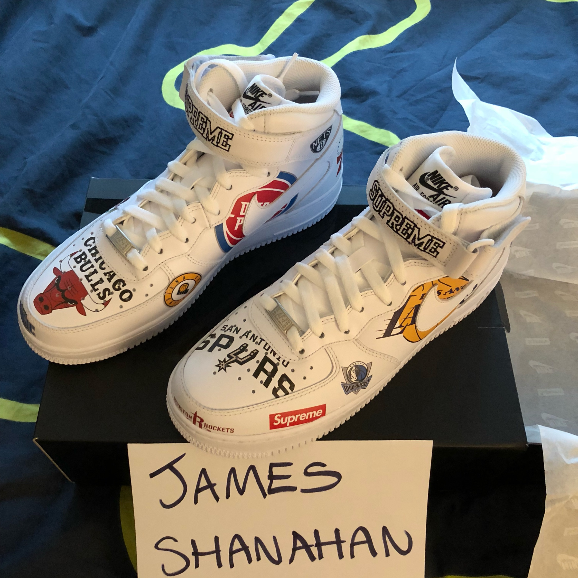 best loved ba88e 57026 Nba X Supreme X Nike Air Force High Tops