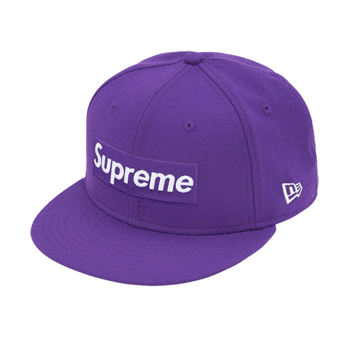 Supreme World Famous Box Logo New Era Purple