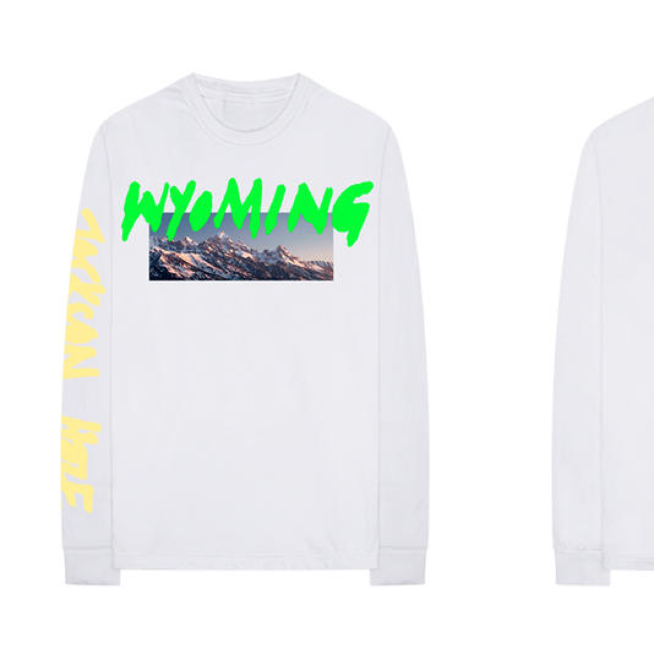 New Kanye West Wyoming Merch Long Sleeve White T