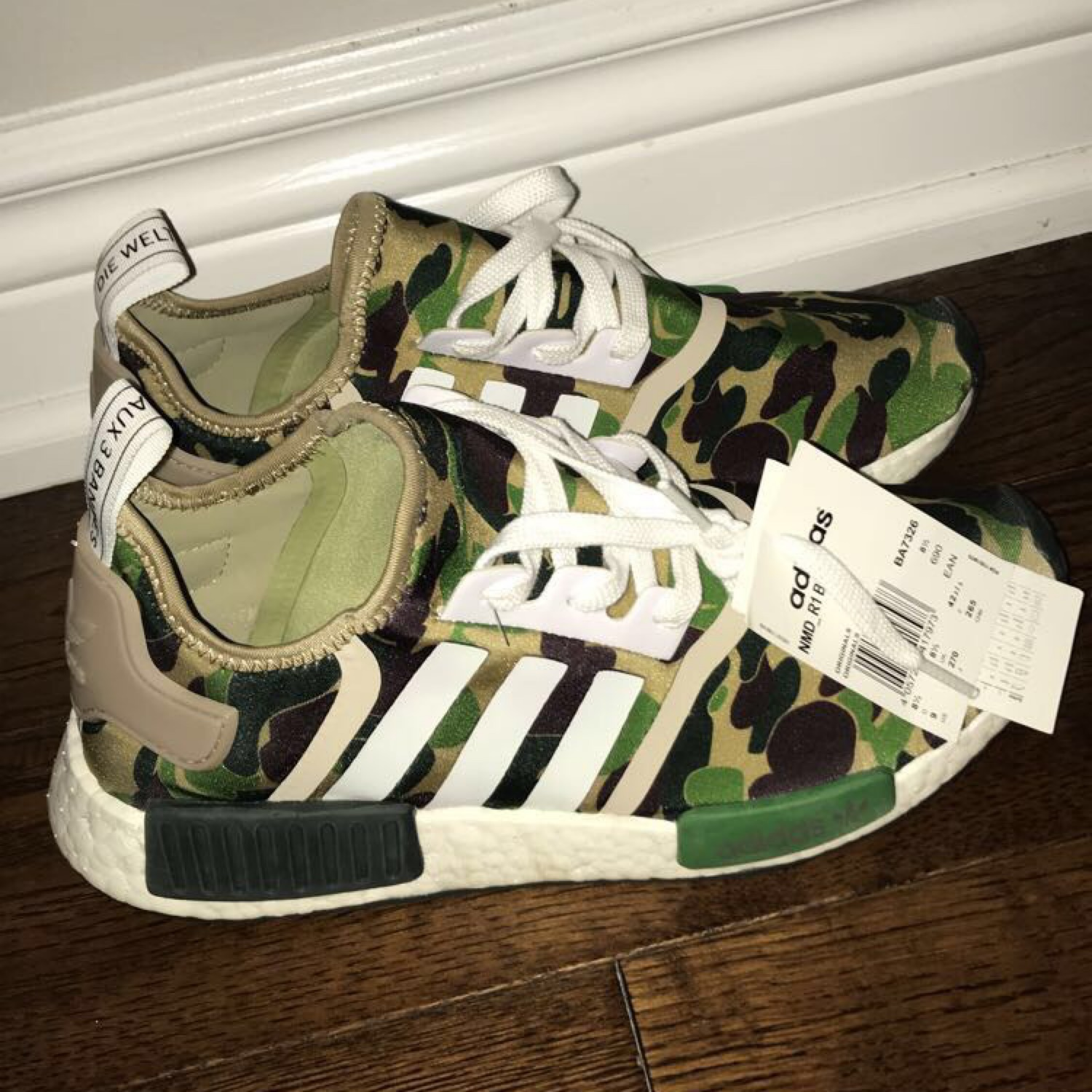 online store ff15f 0e7a2 Unauthenticated Bape X Adidas Nmd R1 Olive Camo