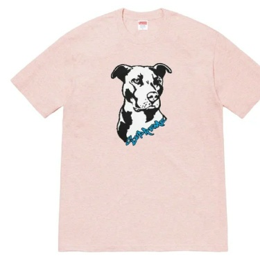 SS20 Supreme Pitbull Tee heather pink T-shirt size L large