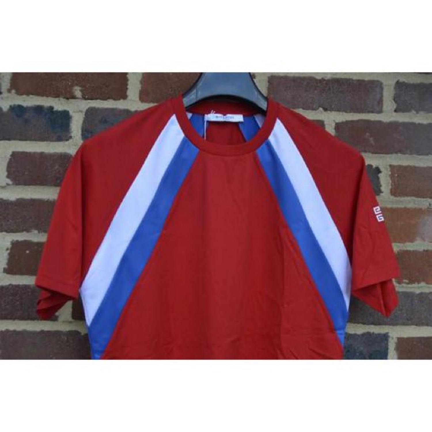 Givenchy Red And Blue 4G Colourblock T-Shirt