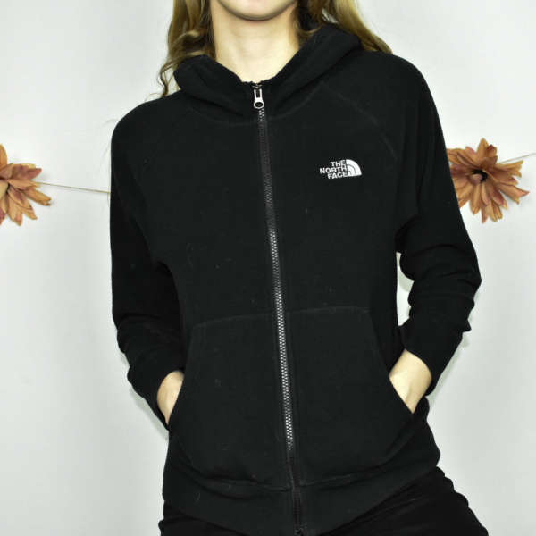 Cute sporty The North Face hoodie jumper sweater top cardigan pullover in black
