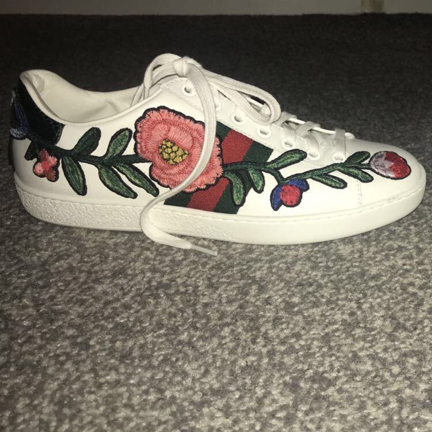 ccb3c7b78a0 Gucci Floral Ace Embroidered Sneakers