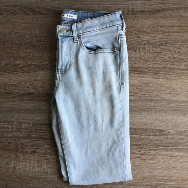 Pacsun Light Blue Stacked Skinny Jeans Size 28X30