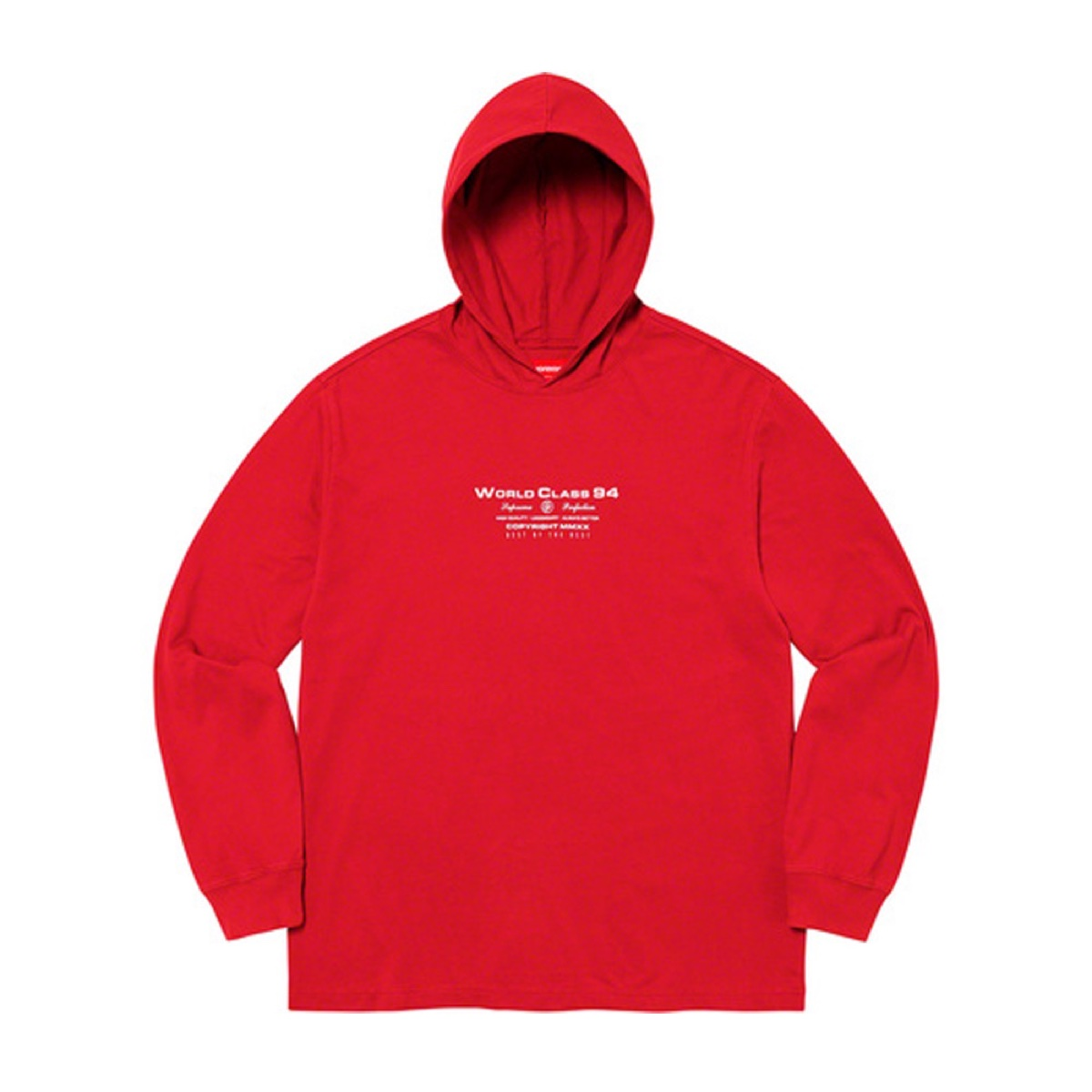 Supreme Best Of The Best Hooded LS Top Red