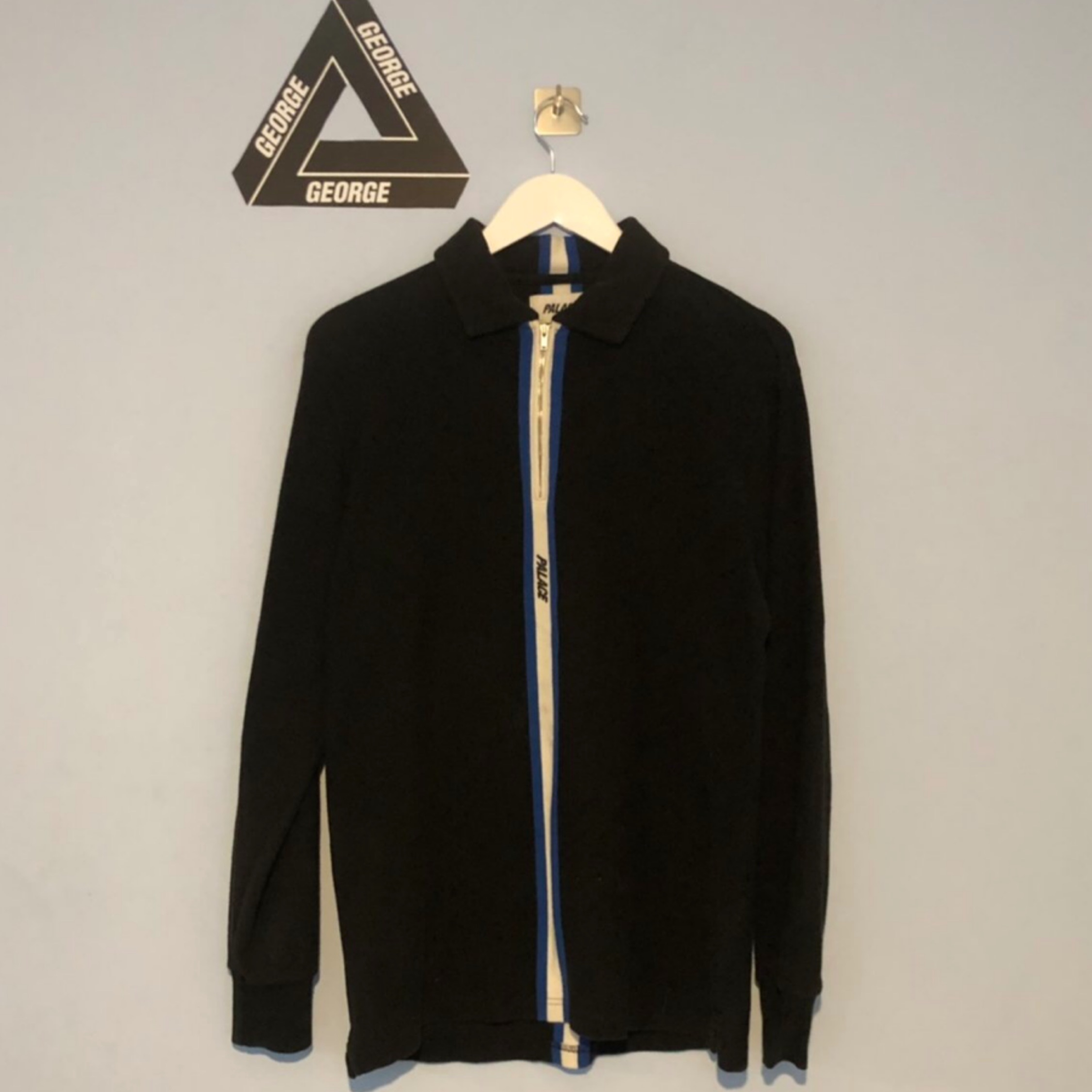 Palace Vertical Weave Zip Polo Shirt
