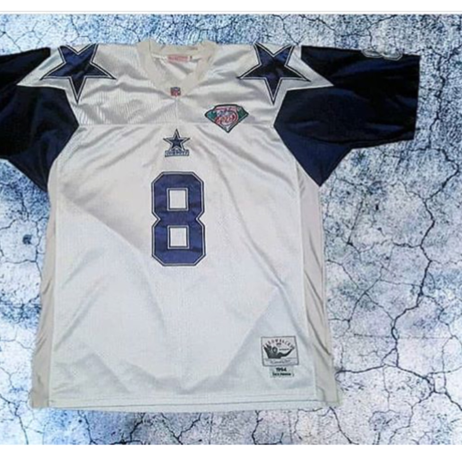save off 0a6f6 0611f M&N Troy Aikman Stitched Jersey