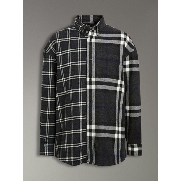 [W2C] Gosha X Burberry Flannel Shirt Grey