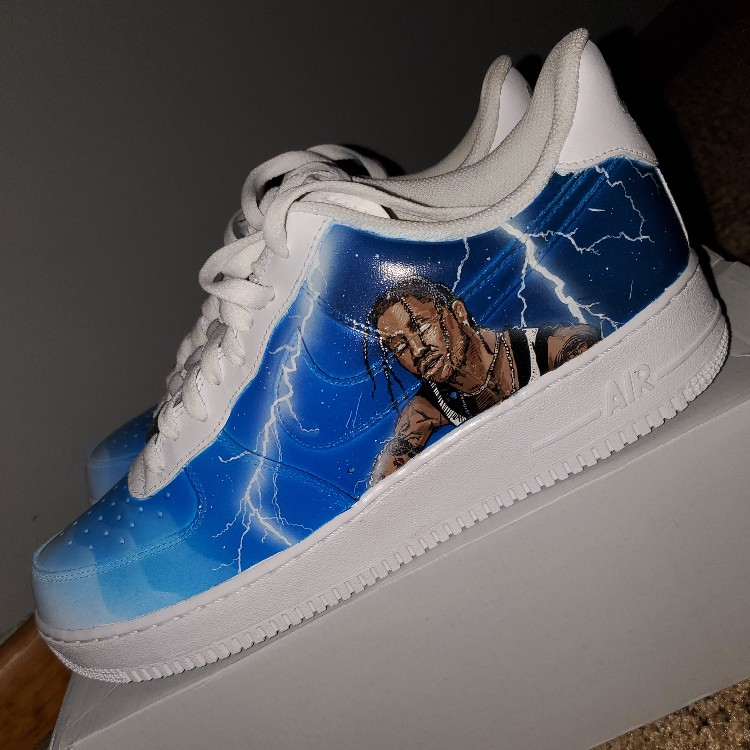 new concept 86274 d96cb DS Nike Air Force 1 (Travis Scott Custom) Size 11US