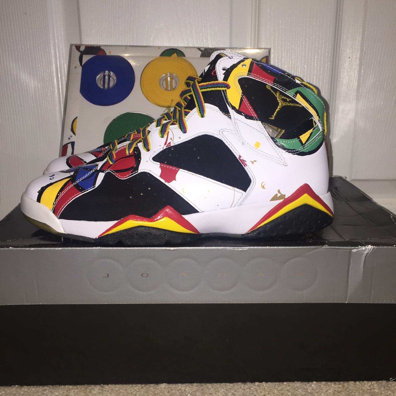 reputable site ceac4 a64b9 Air Jordan 7 Miro Olympic Ds Size 9.5