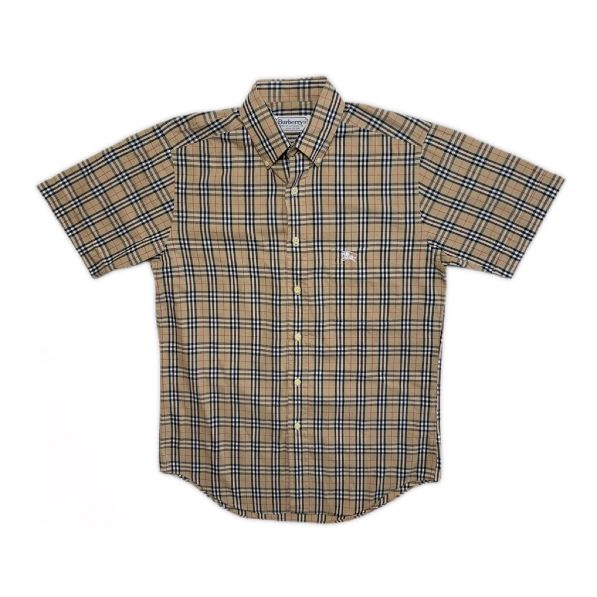 Vintage Burberry Nova Check Short Sleeve Shirt