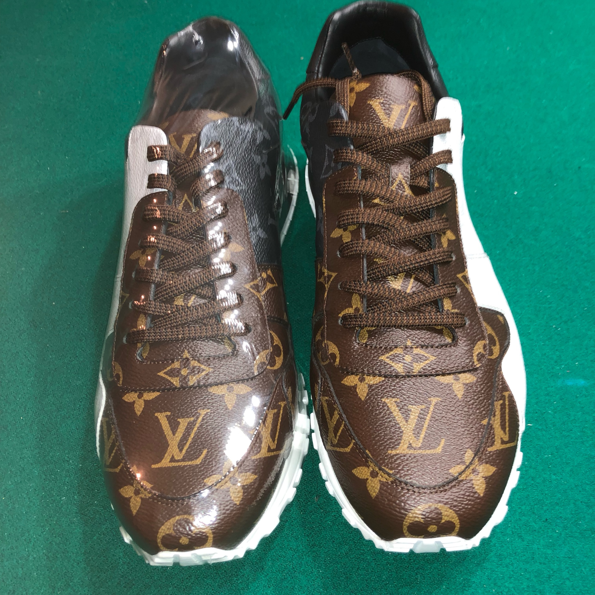 6d4697ce22d8 Louis Vuitton Run Away Monogram Sneakers