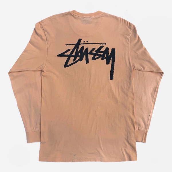 Stussy Stock Longsleeve T-Shirt Peach Size Medium
