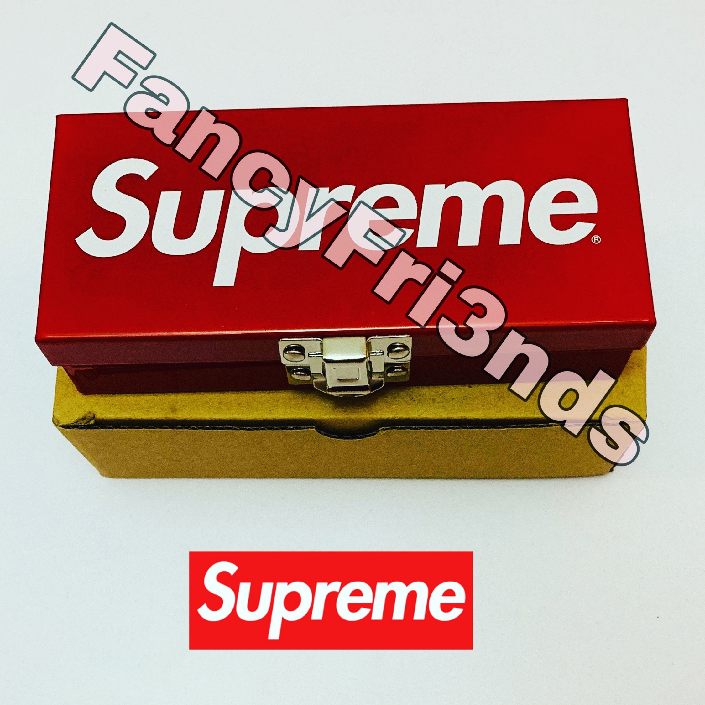Supreme Small Metal Storage Box Red
