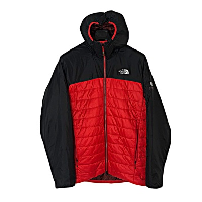 North Face Black And Red Puffer Jacket