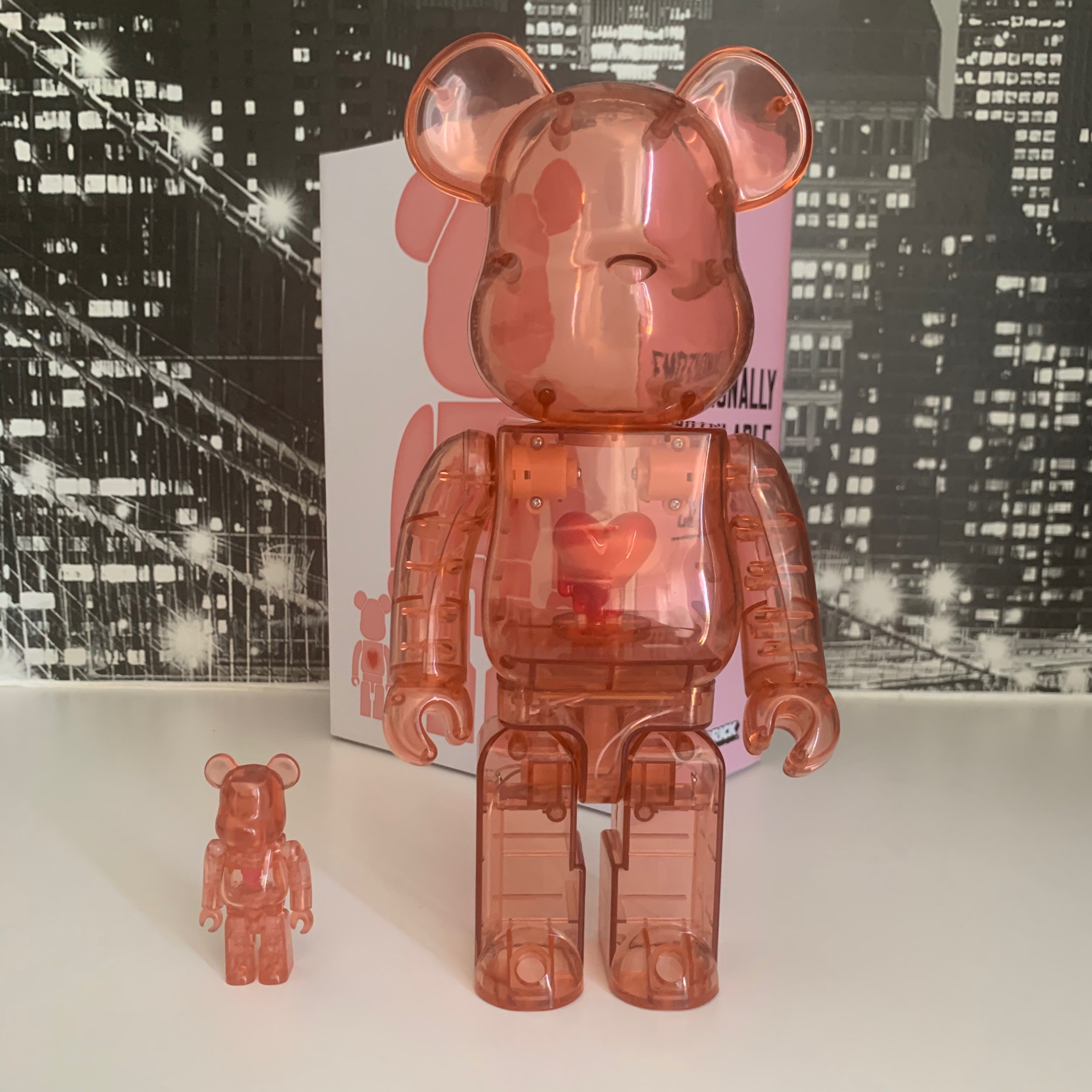 Emotionally Unavailable X Bearbrick Red Heart