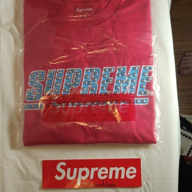 Supreme Red L/S Studded Top
