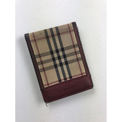 Burberry Checked Leather Card Holder