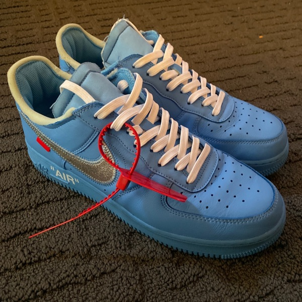 Nike Air Force 1 Off White Mca Blue Us 10