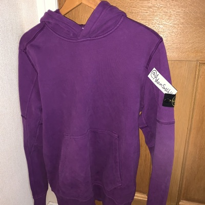 Junior Stone Island Hoodie Purple