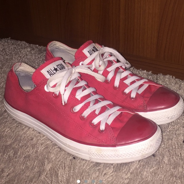 Red Converse All Star Low Tops