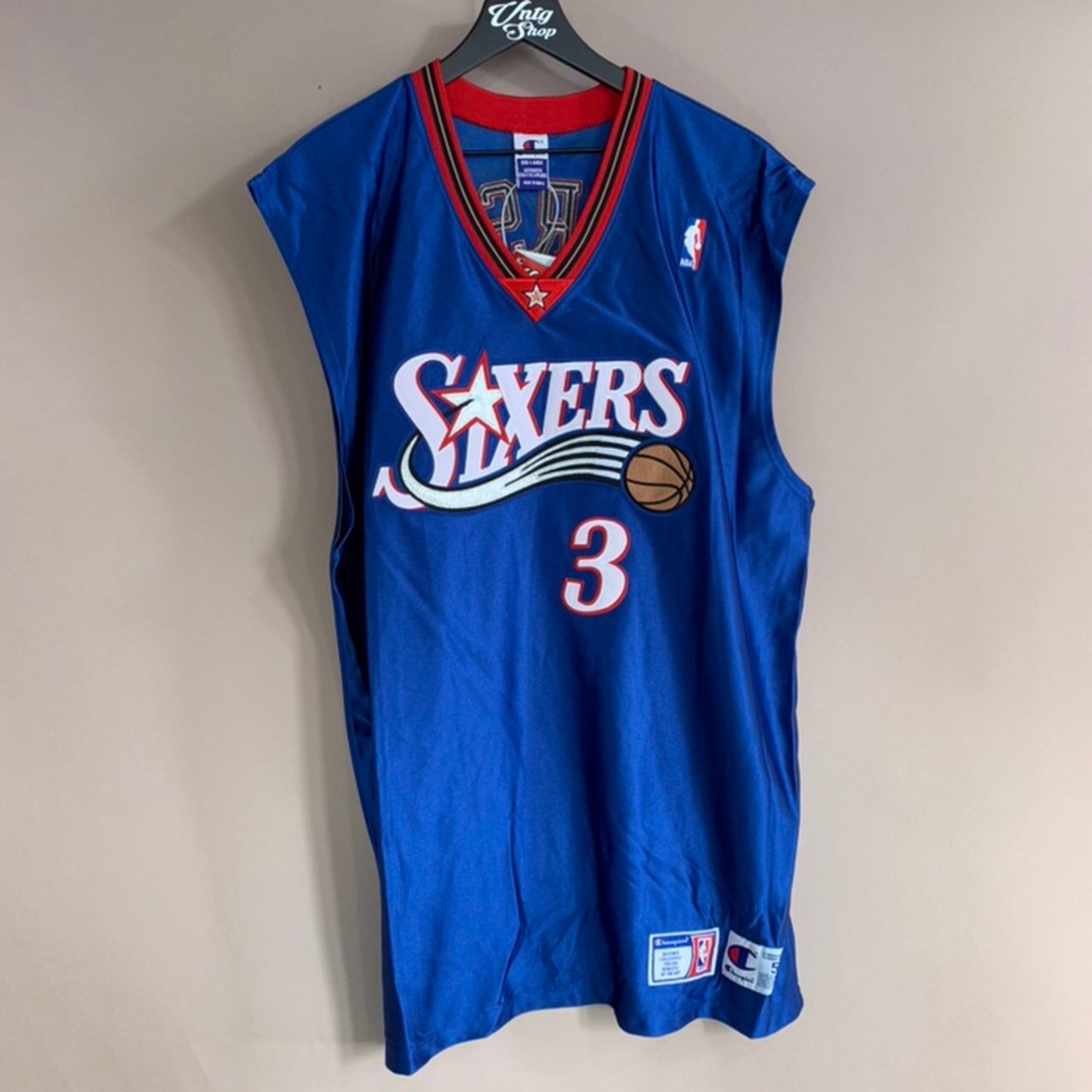 competitive price 72bf8 8216f Vintage Champion Philadelphia 76Ers Jersey