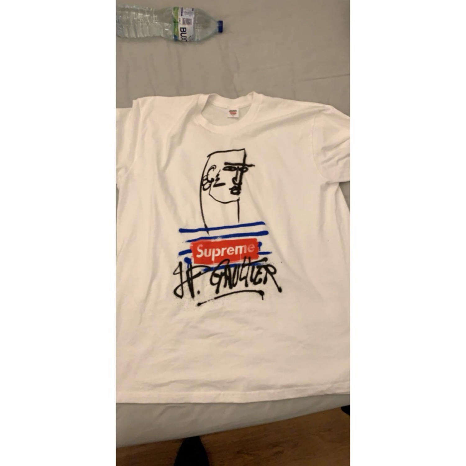 100% high quality release info on buying new Supreme X Jean Paul Gaultier T-Shirt Xl