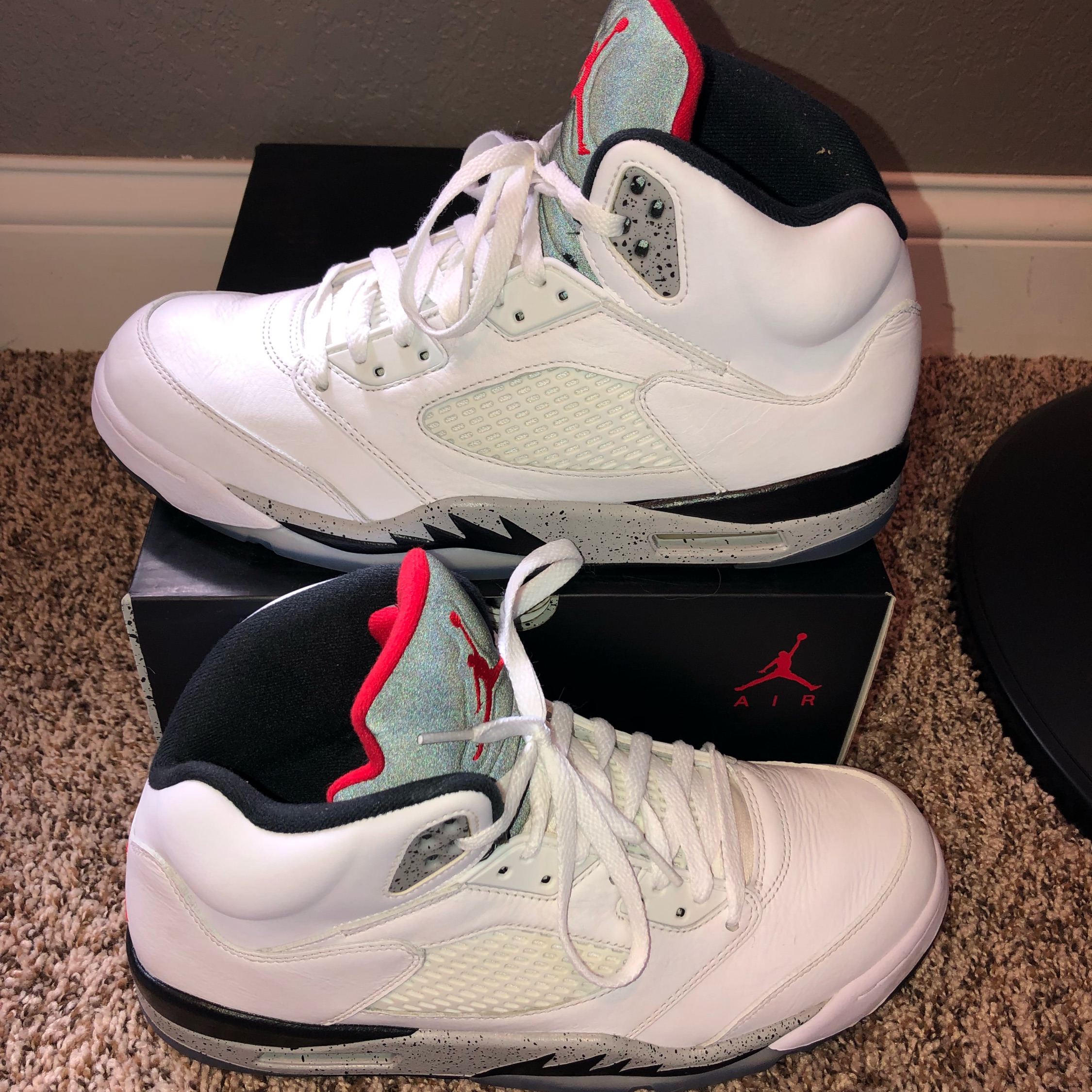 """new product 1434c cafd6 Jordan 5 """"White Cement"""""""