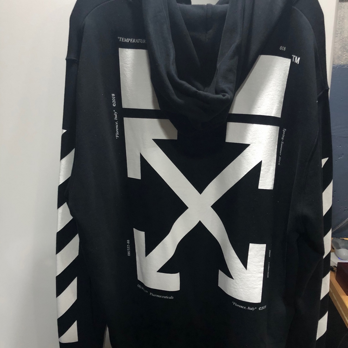 OFF-WHITE Monalisa Graphic Print Hoodie Black/White