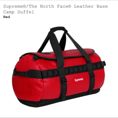 Supreme X The North Face Leather Base Camp Duffel