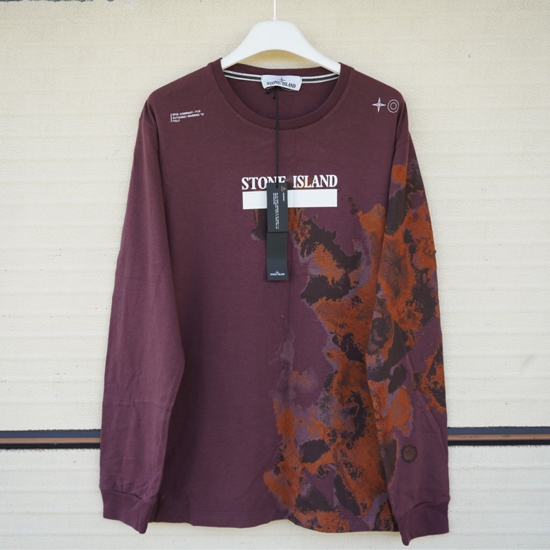 Stone Island Longsleeve New With Tags Size M Burgundy