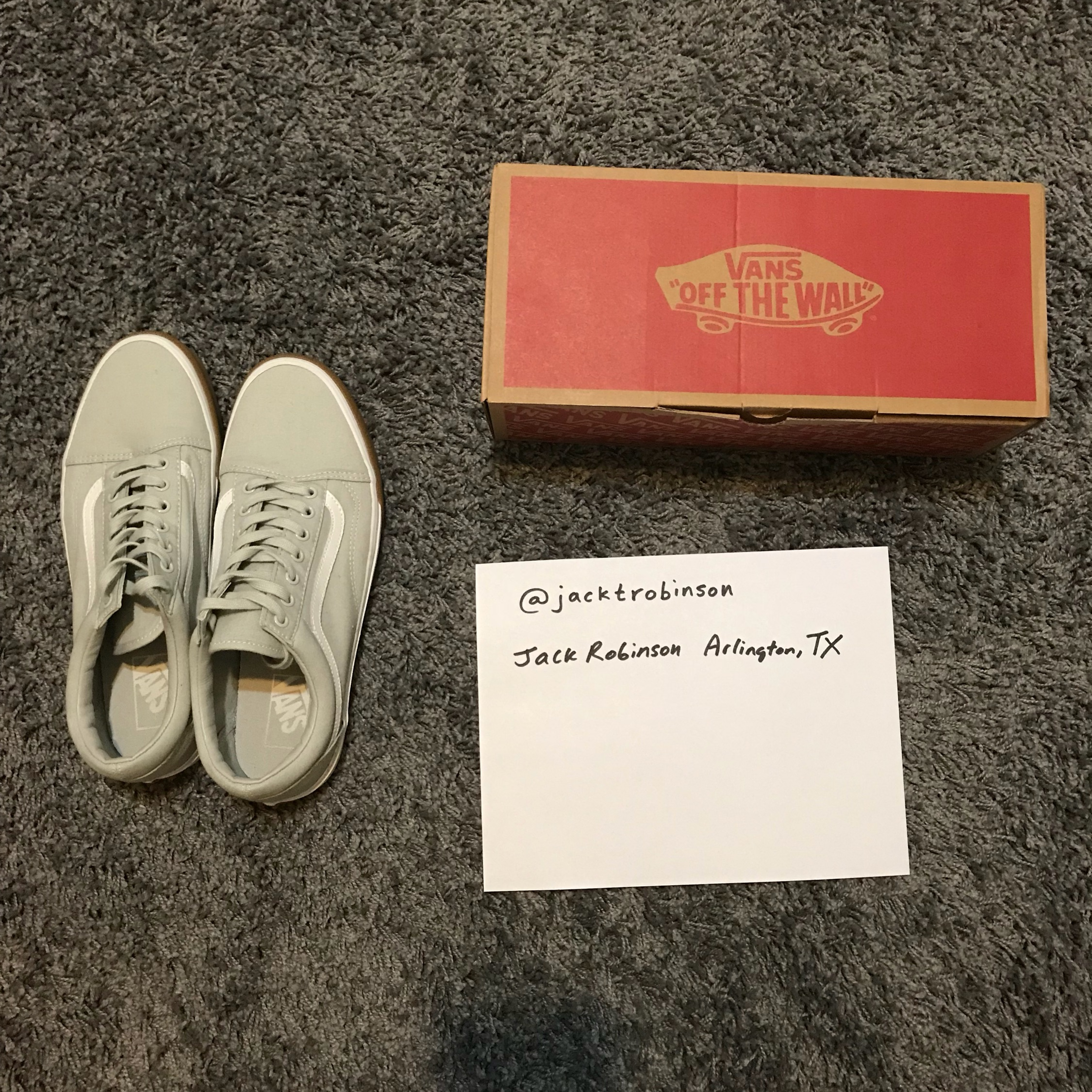 select for official pick up unique style Vans Old Skool Grey&Gum Practically New Size 10.5