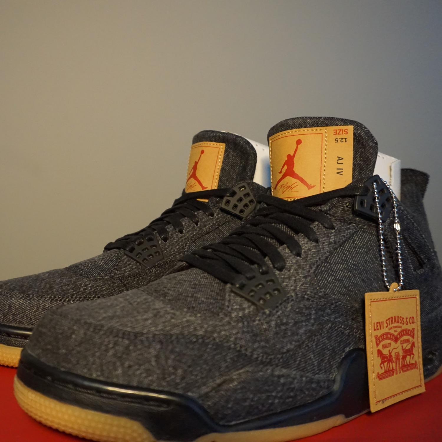 low priced 5415a 94975 Air Jordan 4 X Levi's Black Us 12.5