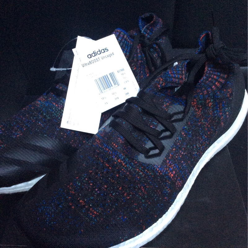 adidas Ultraboost Uncaged Core Black Active Red Blue