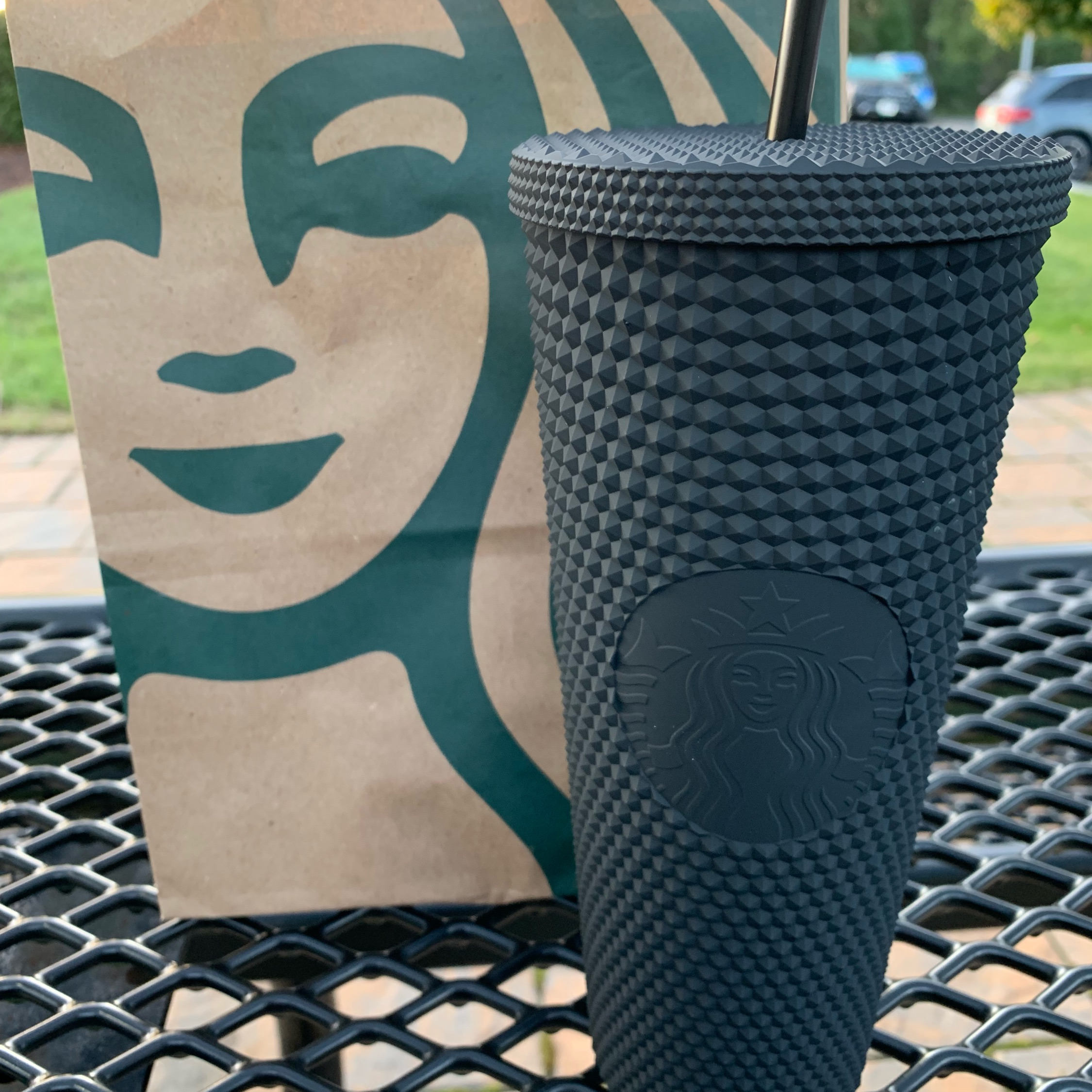 Limited Starbucks Matte Black Studded Tumbler
