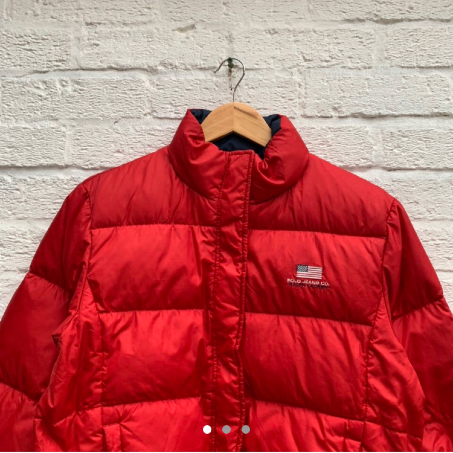 Red Polo Vintage Jeans Jacket Puffer Ajq5R4Lc3
