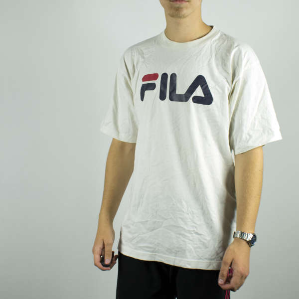 Fila t-shirt top blouse tee in white
