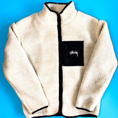 Stussy Fleece Jacket - Cream Sherpa