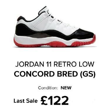 Jordan 11 Retro Low Concord Bred GS 7US