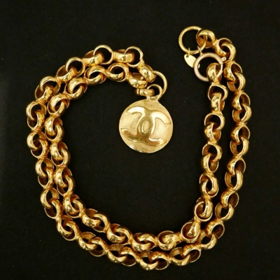 Authentic Chanel Gold Plated Chain Necklace