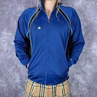 Mens Vintage Blue Champion Track Top S