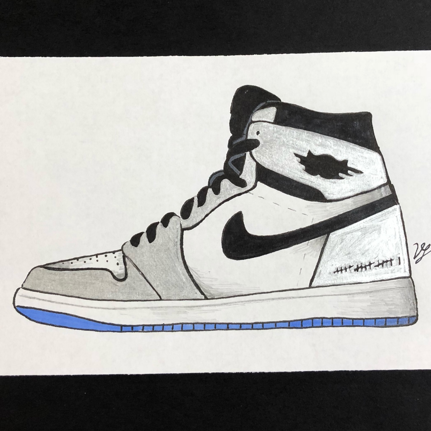 separation shoes e10b9 c6930 Nike Air Jordan 1 Kawhi Leonard Silver Art